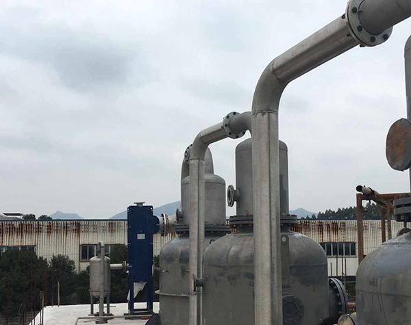 腌制废水处理三效蒸发器项目现场