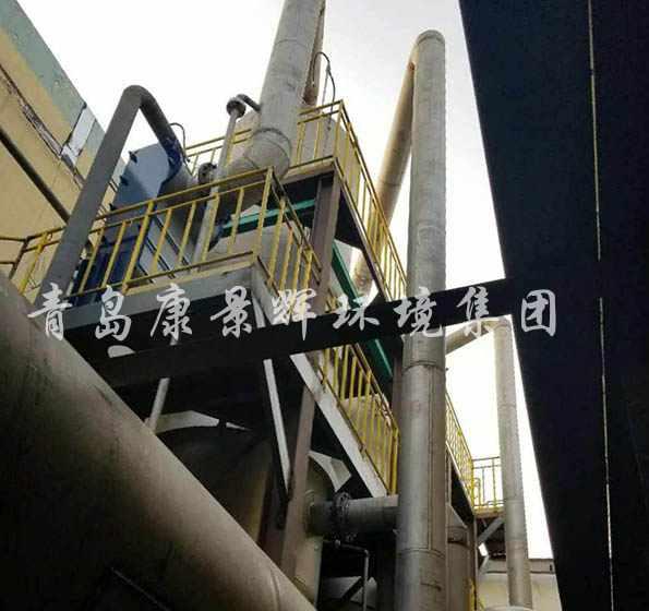 稀土废水处理三效蒸发器安装现场