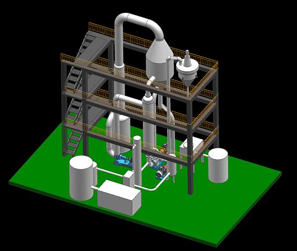 钻井含盐废水MVR蒸发器三维图
