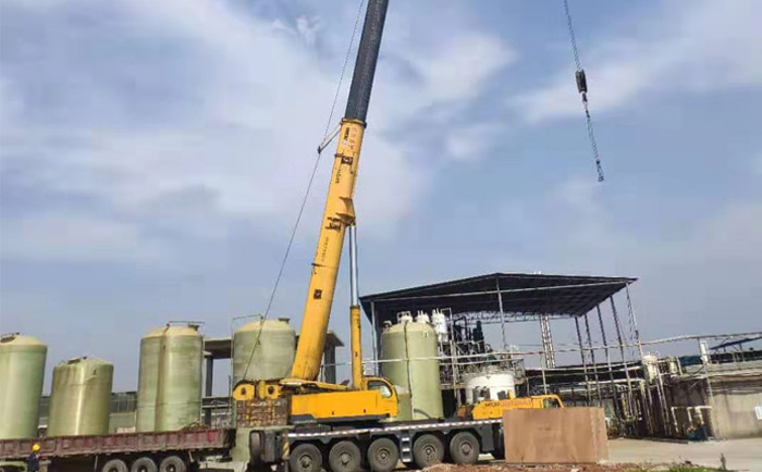 MVR蒸发结晶浓缩项目安装现场