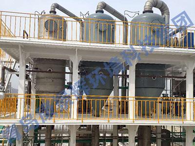 河南三效蒸发器安装现场
