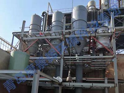 内蒙三效蒸发器安装现场