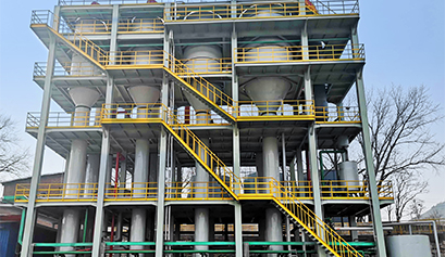 硅胶废水处理四效蒸发器项目案例
